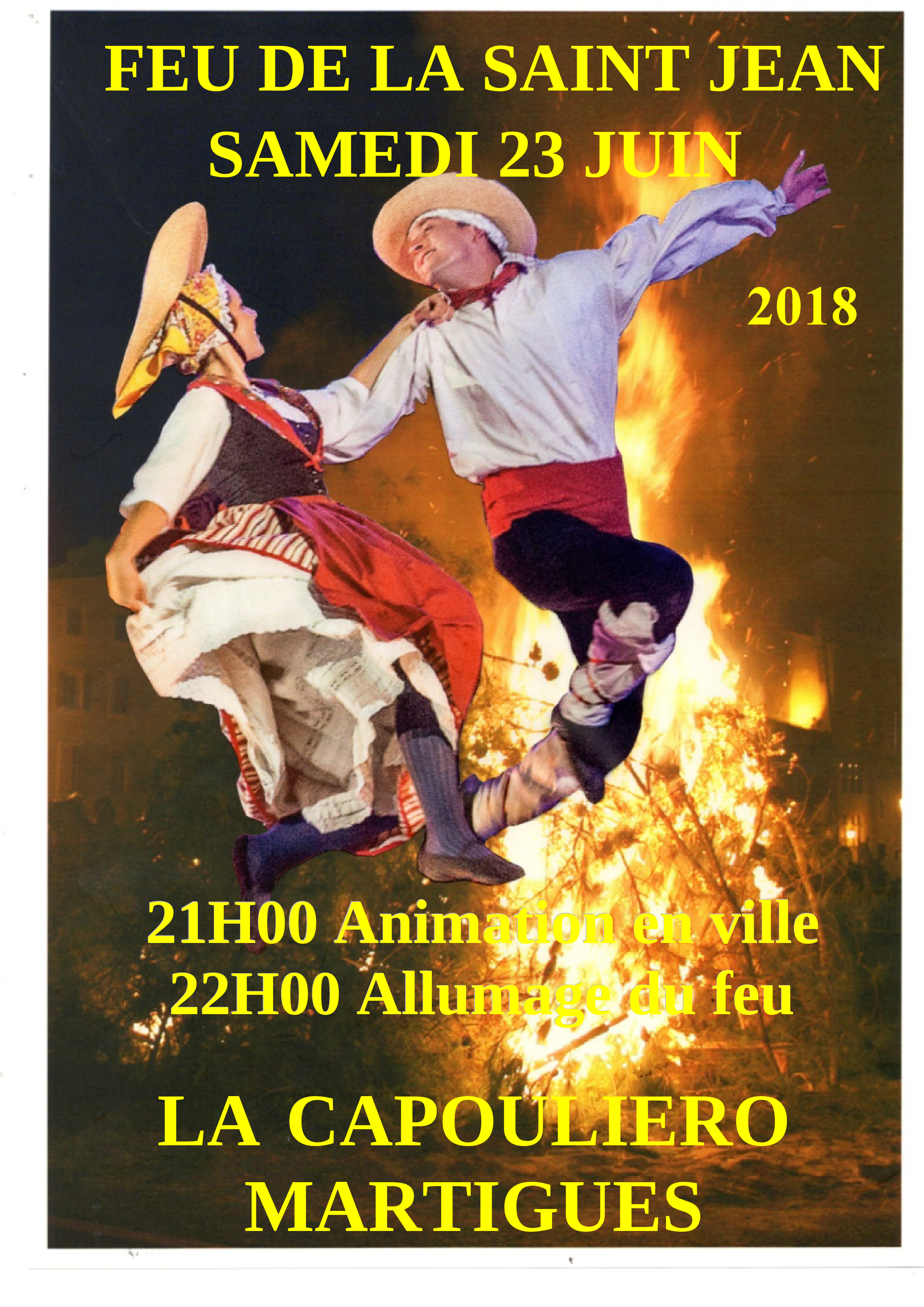 23 juin 2018 : FEU DE LA SAINT JEAN A MARTIGUES (Bouches du Rhône)